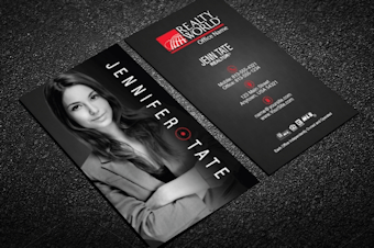 Realty world real estate business cards free shipping realty world business card w agent portrait vertical reheart Image collections