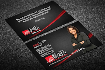 Realty world real estate business cards free shipping silver foil effect realty world business card colourmoves Images