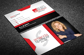 Realty world real estate business cards free shipping light modern realty world business card design reheart Images